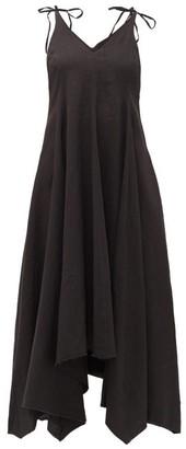 Fil De Vie - Tangier Linen Midi Dress - Black