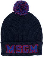 MSGM logo knitted hat - kids - Acrylic/Rayon/Wool/Alpaca - 54 cm