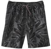 Merona Men's Board Shorts - Black/Grey Palm Print