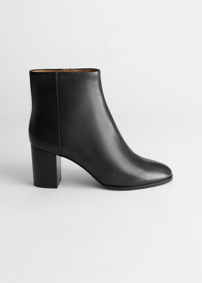 And other stories Smooth Leather Ankle Boots