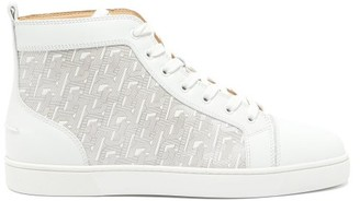Christian Louboutin Louis High-top Leather Trainers - Mens - White