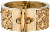 Kara Ross Snakeskin Cuff Bracelet