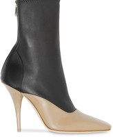 Burberry two-tone stiletto boots