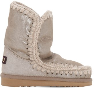Mou Eskimo Metallic Shearling Boots