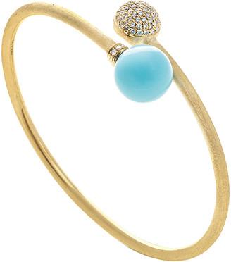 Marco Bicego Africa 18K 0.50 Ct. Tw. Diamond & Turquoise Cuff Bracelet