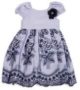 Laura Ashley Little Girl's Floral Scalloped Hem Dress