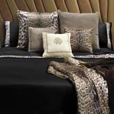 Roberto Cavalli Leopard Border Duvet Set - Super King - Black