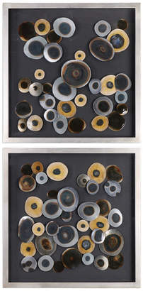 Uttermost Discs Wall Art Squares, Set of 2