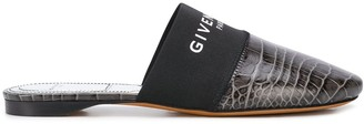 Givenchy Bedford crocodile-effect flat mules