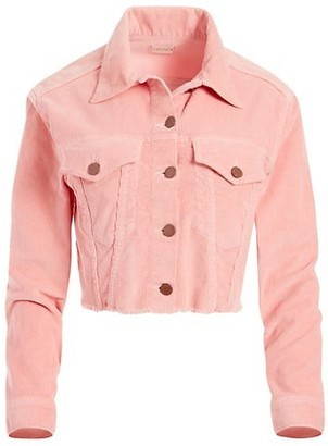 Alice + Olivia Jeans Kendall Crop Corduroy Boxy Jacket