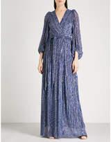 BA&SH Maddie cutout metallic woven maxi dress