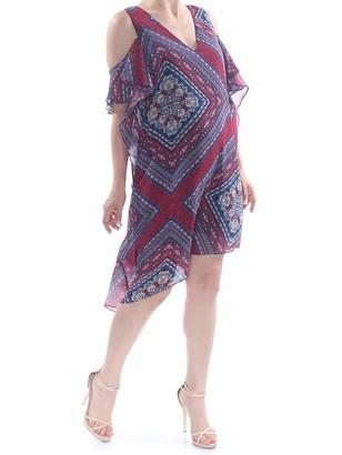BCBGeneration Women's Cold Shoulder Ruffle ASYEMMETRICAL Hem Dress