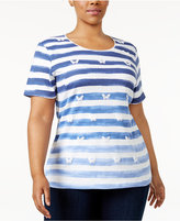 Karen Scott Plus Size Printed T-Shirt, Only at Macy's