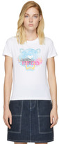 Kenzo White Limited Edition Rainbow Tiger T-shirt