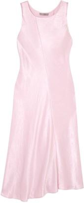 Vince Crinkled-satin Midi Dress