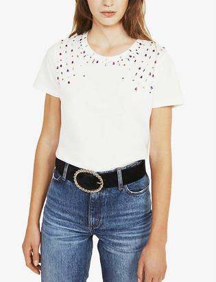 Claudie Pierlot Toshine cotton-jersey T-shirt