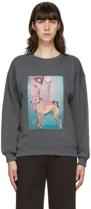 Acne Studios Grey Dog Patch Sweatshirt