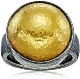 "Gurhan Amulet"" Sterling Silver Round Ring, size 6.5"