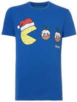 Tu clothing Blue Black Christmas Pac Man Tee
