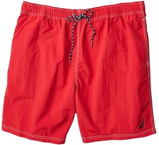 Nautica Big Tall Solid Swimwear (Red 1) Men's Swimwear