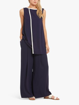 Helen McAlinden Kate Long Line Sleeveless Top, Navy