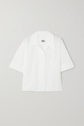 MM6 MAISON MARGIELA Oversized Cotton Shirt - White