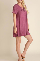 Umgee USA Raspberry Tee Dress