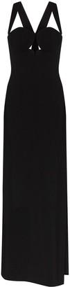 Versace Halterneck Side Slit Maxi Gown