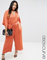 Asos Belted Jumpsuit with Kimono Sleeve