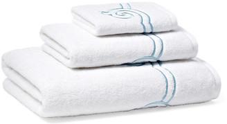 Hamburg House 3-Pc Serenity Towel Set - Cadet Blue