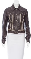 Just Cavalli Embellished Leather Jacket