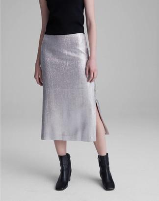 Club Monaco Metallic Midi Skirt