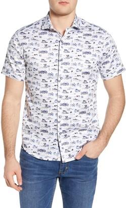 Robert Graham Throttle Regular Fit Short Sleeve Button-Up Shirt