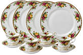 Royal Albert Old Country Roses Bone China 12 Piece Dinnerware Set, Service for 4