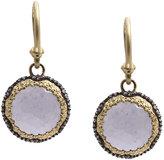 Armenta Old World Chalcedony & Diamond Round Drop Earrings