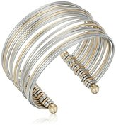 Jessica Simpson Mixed Metal Stacked Cuff Bracelet