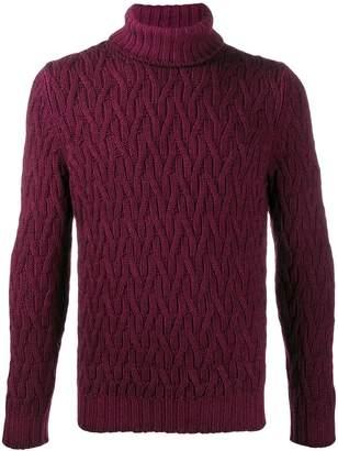 D'aniello La Fileria For slim-fit chunky knit jumper