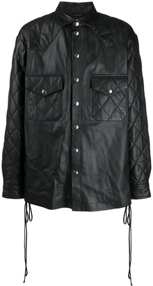 Faith Connexion Quilted Leather Shirt