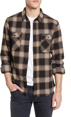 Brixton Bowery Plaid Button-Up Flannel Shirt