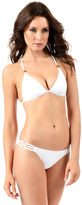 Voda Swim White Three String Bottom