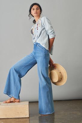 Pilcro And The Letterpress Pilcro Ultra High-Rise Relaxed Flare Jeans By in Blue Size 32