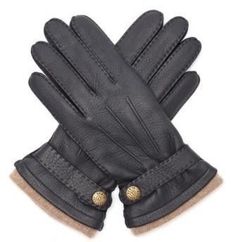 Dents Gloucester Leather Gloves - Navy