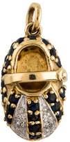 Charm 14K Sapphire & Diamond Shoe