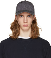 Rag & Bone Black Marled Baseball Cap