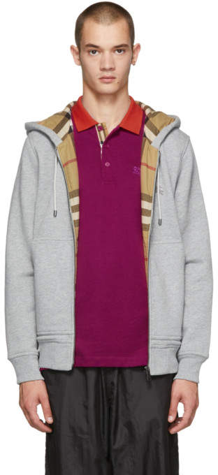 Burberry Grey Fordson Core Hoodie