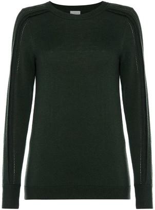 Linea Ruby pointelle sleeve jumper