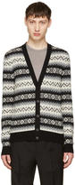 Alexander McQueen Black and Beige Cashmere Cardigan