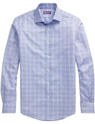 Ralph Lauren Purple Label Aston Checkered Dress Shirt