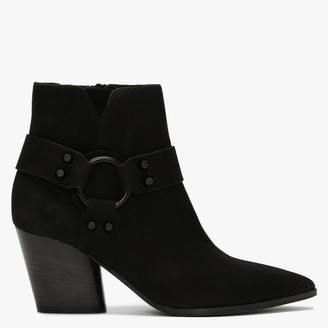 Kennel + Schmenger Abby Black Suede Western Ankle Boots