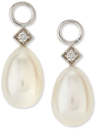 Jude Frances White Gold Pearl Briolette Earring Charms